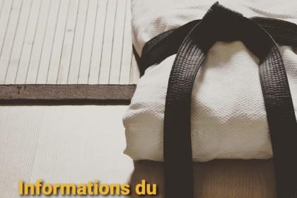 Informations du 10 Décembre : Organisation de la fin d'année